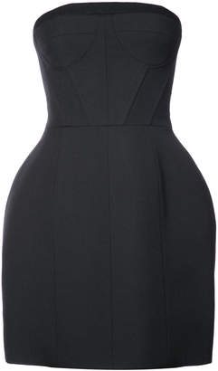 Vera Wang strapless mini bell dress