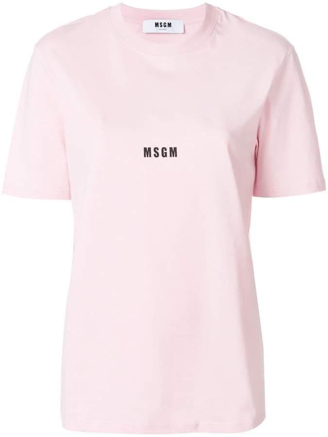 MSGM mini logo printed T-shirt