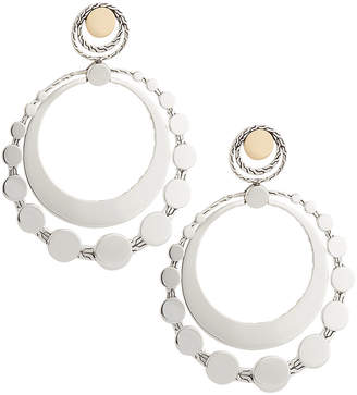 John Hardy Dot Deco Large Round Drop Earrings