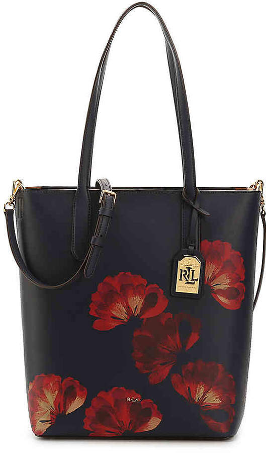 Polo Ralph Lauren Women's Dryden Alexis Leather Tote