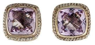 David Yurman Amethyst & Diamond Albion Earrings