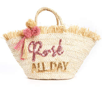Shiraleah Rose All Day Straw Tote