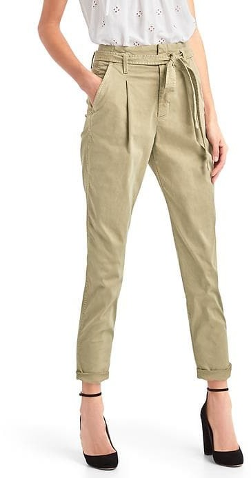 Paper bag high rise chinos