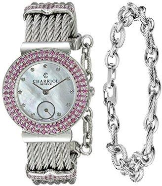 Charriol Women 's ' St Tropez ' Swiss QuartzステンレススチールDress Watch , Color : silver-toned (モデル: st30rho。560.016 )