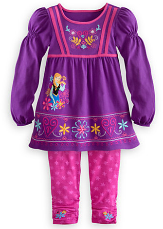 Disney Anna Knit Dress and Leggings Set for Girls - Frozen