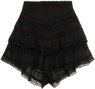 Zimmermann Juniper pintuck lace cotton shorts