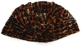 Albertus Swanepoel Gloria Velvet Leopard Turban