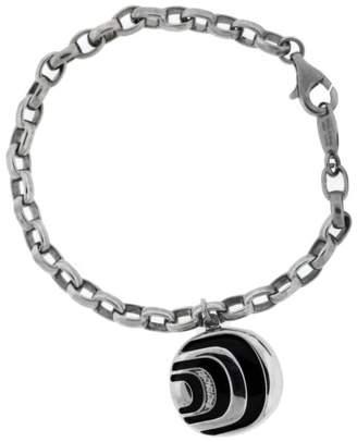 Damiani Damianissima Sterling Diamond & Onyx Bracelet