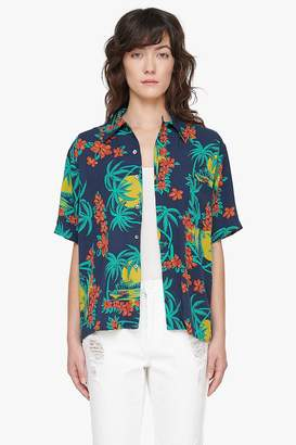 Genuine People Tropical Print Tee Shirt