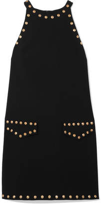 Moschino Studded Crepe Mini Dress - Black