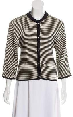 Bouchra Jarrar Striped Knit Cardigan