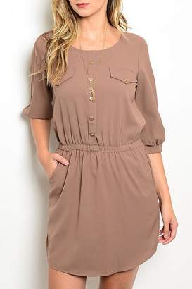 Lila Khaki Pockets Dress