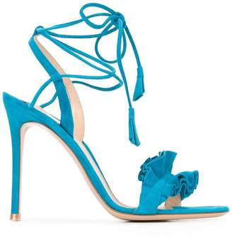 Gianvito Rossi ruffle trim sandals