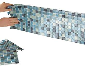 "Collections Etc Mosaic Peel & Stick 10"" x 10"" Backsplash"