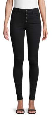 AG Jeans Buttoned High-Rise Skinny Jeans
