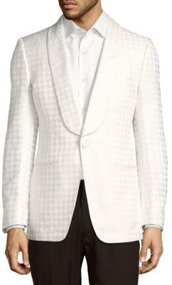 Houndstooth One-Button Jacket $3,620 thestylecure.com