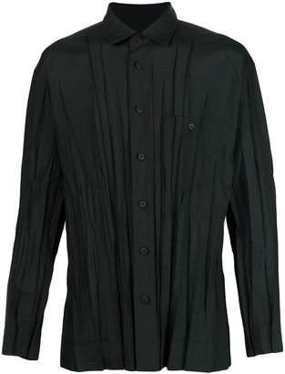 Issey Miyake creased effect shirt