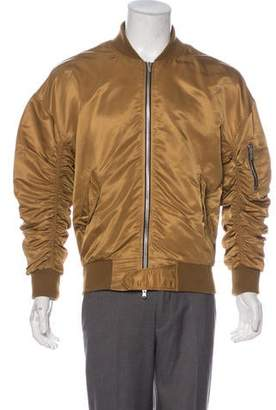Fear Of God Silk-Lined Ruched Satin Bomber