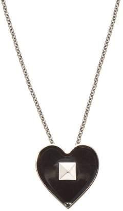 Valentino - Rockstud Heart Necklace - Mens - Black