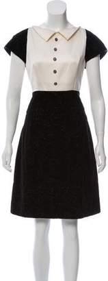 Chanel Velvet Camellia Dress