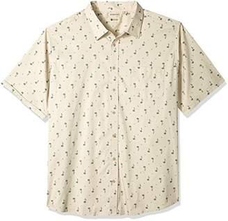 Haggar Men's Big&Tall Short Sleeve Micrographic Prints Woven Shirt