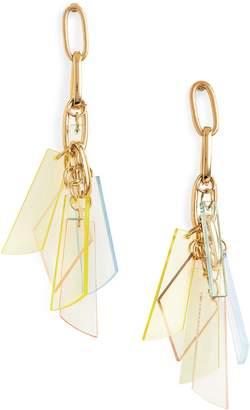 Stephan & Co Mixed Media Cluster Drop Earrings