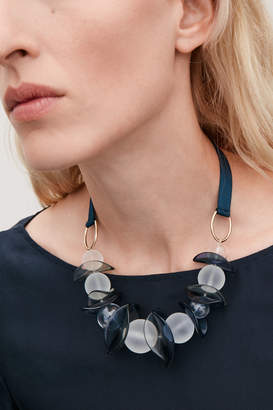 Cos GLASS-BALL RIBBON NECKLACE
