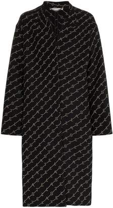 Stella McCartney logo print oversized coat