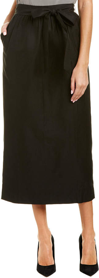J. Crew J.Crew Silk-Blend Maxi Skirt