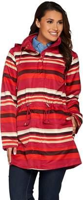 C. Wonder Reversible Solid or Stripe Water Resistant Anorak Jacket