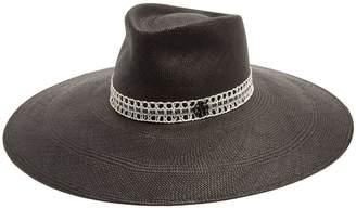 Maison Michel Pina wide-brim straw hat