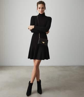 e9f638bc8e1 Reiss MIMI KNITTED FLIPPY HEM DRESS Black