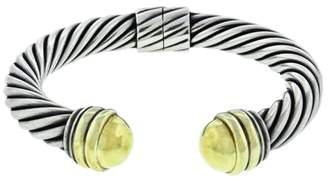 David Yurman Two Tone Wide Cable Hinged Bracelet