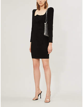 Jitrois Gina fitted suede mini dress