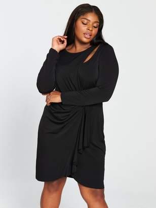 5563cda9026 V By Very Curve V by Very Curve Slinky Jersey Dress - Black