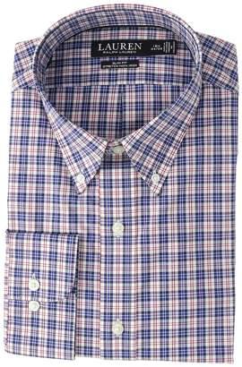 Lauren Ralph Lauren Slim Fit No-Iron Plaid Cotton Dress Shirt Men's Long Sleeve Button Up