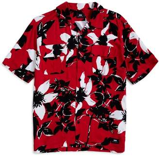 Edwin Garage Shirt Twill Rayon Floral Allover Red