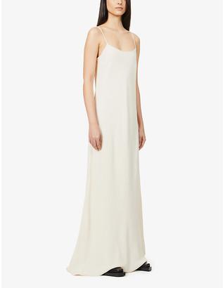 The Row Ebbins scoop-neck crepe maxi dress