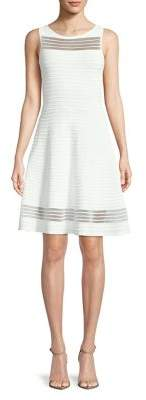 French Connection Tobey Crepe Fit-&-Flare Dress