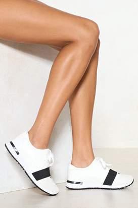 Nasty Gal Run With It Vegan Leather Sneaker