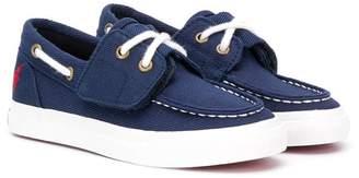 Ralph Lauren Kids contrast stitch loafers