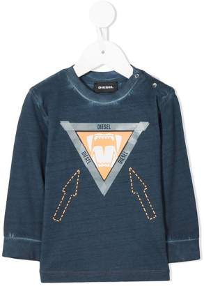 Diesel triangular logo longsleeved T-shirt