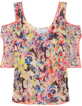 Jason Wu - Cutout Floral-print Silk-georgette Top - Pink $995 thestylecure.com
