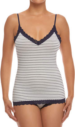 Hanky Panky Lace-Trim Striped Jersey Camisole