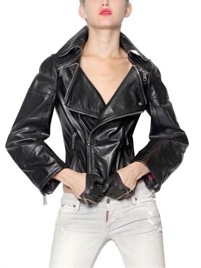 DSquared Soft Leather Biker Jacket