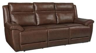 Loon Peak Maricopa Manual Motion Leather Reclining Sofa