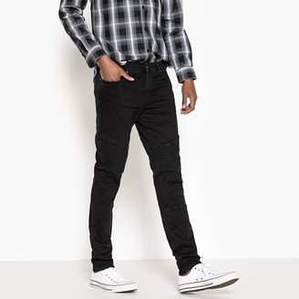 La Redoute Collections Biker-Style Slim-Fit Jeans