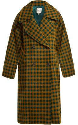 Sea Ethno Pop Plaid Wool Blend Coat - Womens - Green Multi