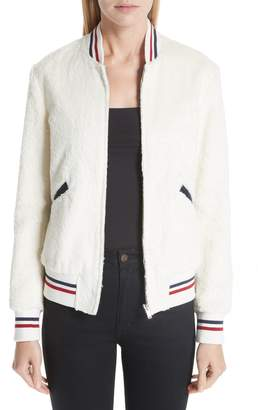 Saint Laurent Teddy Faux Fur Bomber Jacket