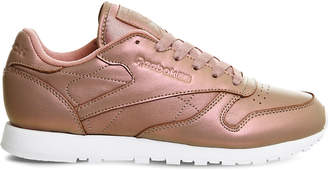 Reebok Classic pearlised leather trainers $69 thestylecure.com